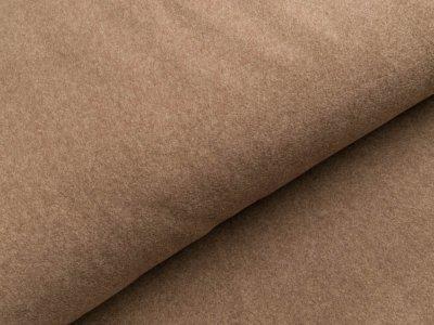 Baumwollfleece - meliert braun