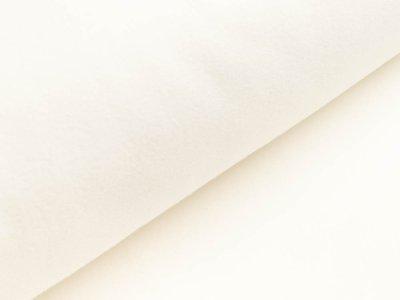 Baumwollfleece - meliert wollweiß