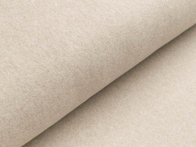 Baumwollfleece - meliert beige