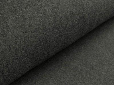 Baumwollfleece - meliert anthrazit