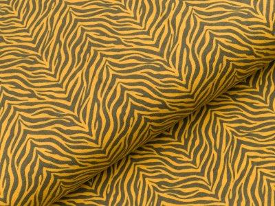 Sweat French Terry - Animalprint Zebra - ocker
