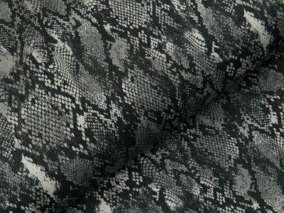 Sweat French Terry - Animalprint Schlange - schwarz/grau