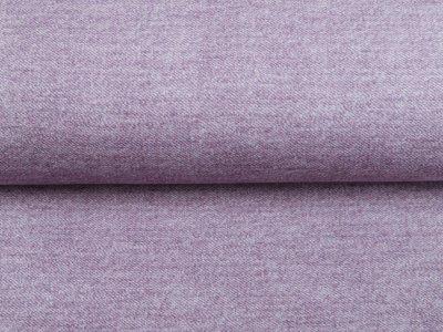 Sweat French Terry Digitaldruck in Jeansoptik - uni lavendel