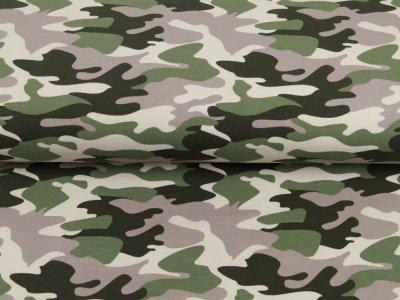Angerauter Sweat Brushed - Camouflage - grün