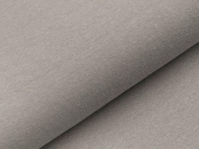 Glattes Bündchen im Schlauch - uni helles grau