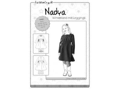 Schnittmuster NADYA Winterkleid Farbenmix