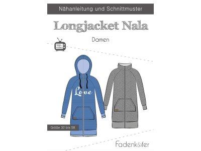 Papier-Schnittmuster Fadenkäfer - Longjacket NALA - Damen