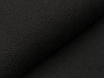 Angerauter Sweat - uni schwarz