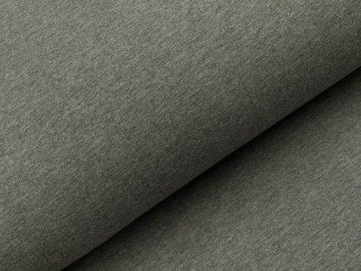 Angerauter Sweat - meliert dunkles grau