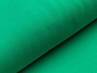 Angerauter Sweat - uni grasgrün
