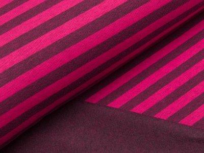 Angerauter Sweat - Streifen - pink