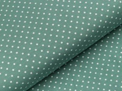 Jersey - kleine Punkte - mint/weiß