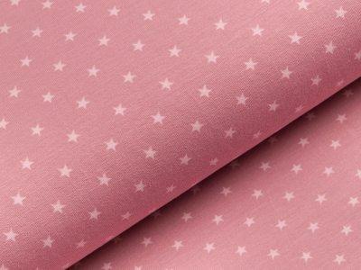 Jersey - kleine Sterne - dunkles rosa/helles rosa