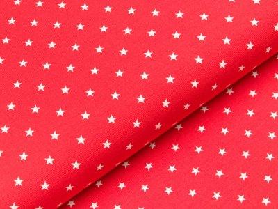 Jersey - kleine Sterne - rot/weiß