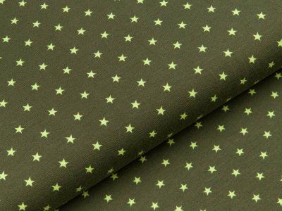Jersey - kleine Sterne - dunkles grün/helles grün