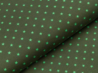 Jersey - kleine Sterne - dunkles grün/grasgrün