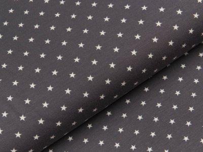 Jersey - kleine Sterne - grau/weiß