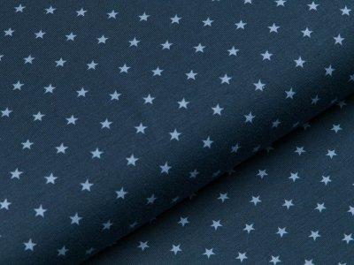 Jersey - kleine Sterne - navy/blau