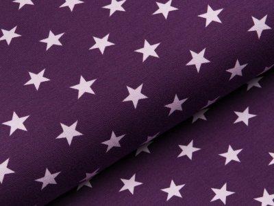 Sweat French Terry - unregelmäßige Sterne - dunkles lila/helles lila