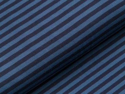 Jersey - Streifen - navy/blau