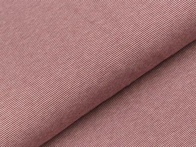 Jersey - schmale Streifen - altrosa/lila
