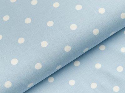 Jersey - große Punkte - helles blau/weiß