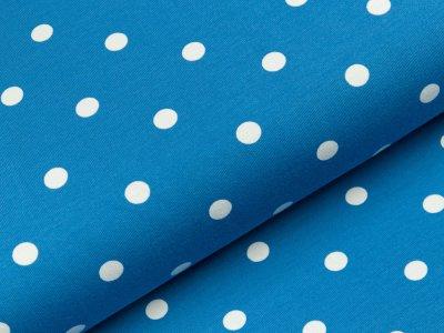 Jersey - große Punkte - blau/weiß