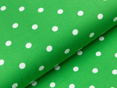 Jersey - große Punkte - grün/weiß