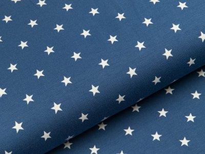 Jersey - Sterne - dunkles blau/weiß
