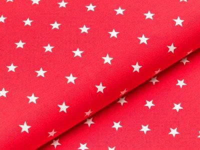 Jersey - Sterne - rot/weiß