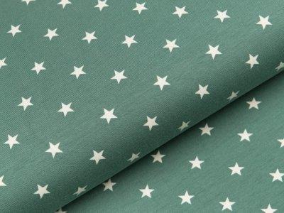 Jersey - Sterne dunkles mint/weiß