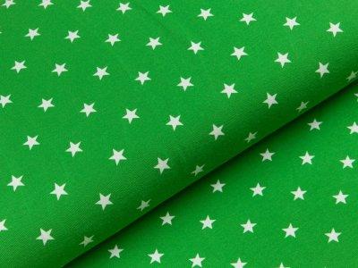 Jersey - Sterne - grün/weiß