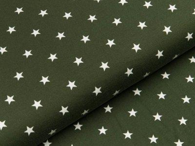 Jersey - Sterne - dunkles grün/weiß