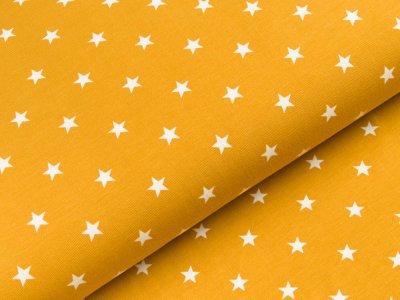 Jersey - Sterne - ocker/weiß