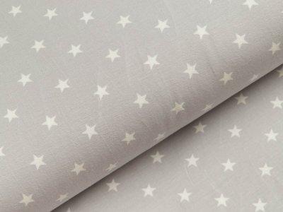 Jersey - Sterne - helles grau/weiß