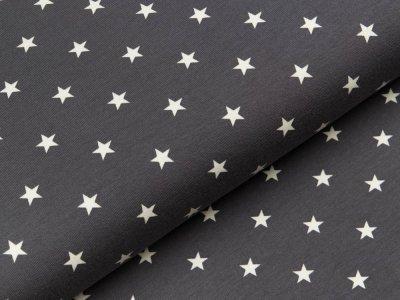 Jersey - Sterne anthrazit/weiß