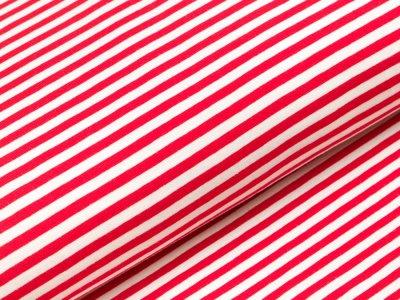 Jersey - Streifen - rot/weiß