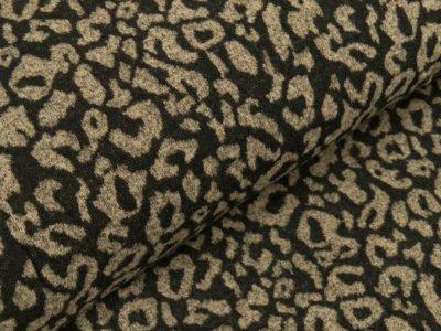 Viskose Strick-Jersey - Animalprint - braun/schwarz