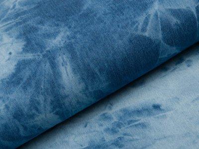 Jeansstoff - Batik - jeansblau