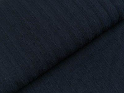 Baumwolle Twill - aufgestickte Muster-Streifen - dunkles blau