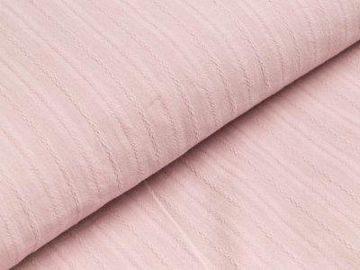 Baumwolle Twill - aufgestickte Muster-Streifen - altrosa