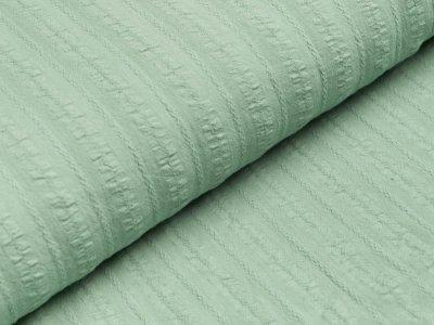 Baumwolle Twill - aufgestickte Muster-Streifen - dunkles mint