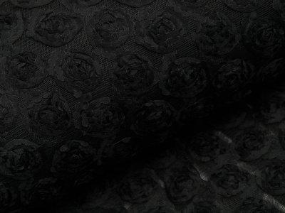 Mesh - Röschen - schwarz