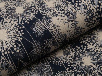 Viskose-Jersey - Pusteblumen - nachtblau