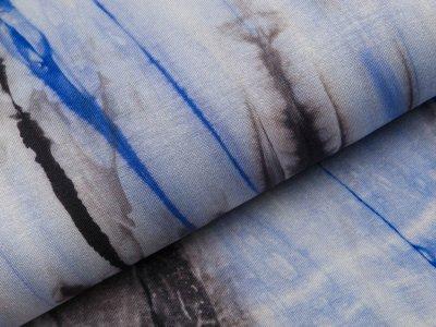 Viskose-Jersey - Batik - grau/royalblau