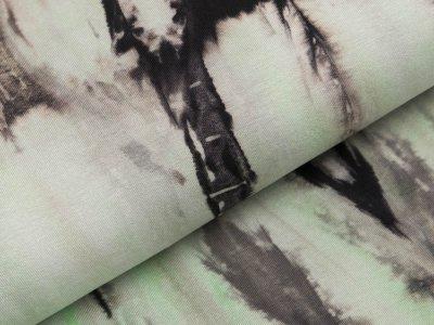 Viskose-Jersey - Batik - grau/lime