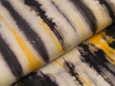 Viskose-Jersey - Batik - beige/ocker