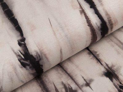 Viskose-Jersey - Batik - grau/braun
