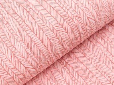 Elastischer Frottee - Fischgräten -rosa