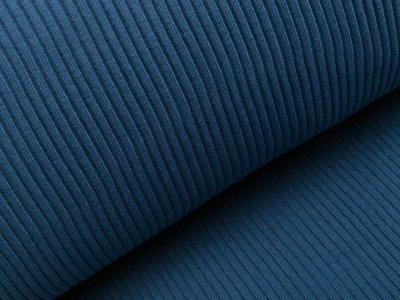Grobes Ripp-Strick Bündchen im Schlauch - jeansblau